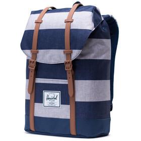 Herschel Retreat Backpack 19,5l Unisex, border stripe/saddle brown
